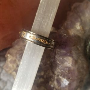 AAlways&Forever titanium spinner ring with diamond